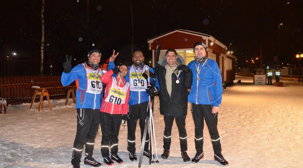 Stafettvasan Finish - Medals!